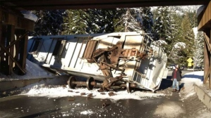 Railroaded CN derailment b.c. jan 3 2013 photo