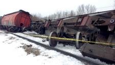 Railroaded CN derailment image Saskatoon dec 2014