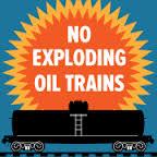 Railroaded no exploding oil trains image