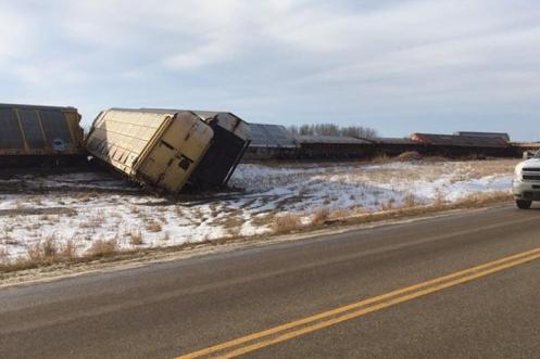 Railroaded CN derailment image Raymore SK dec 2014
