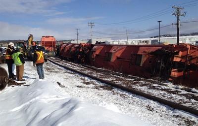 Railroaded CN derailment new brunswick Mar 2012 photo