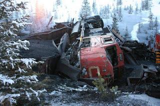 Railroaded CN derailment Grande Cache image