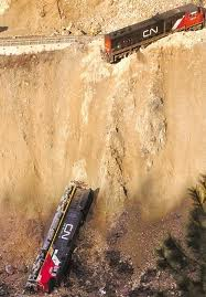 Railroaded CN derailed locomotives image