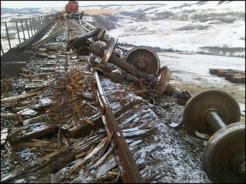 Railroaded CN derailment Fabyan Jan 21 2012