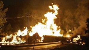 Railroaded CN derailment and fire June 19 2009 photo