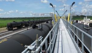 Railroaded crude oil loading facility photo