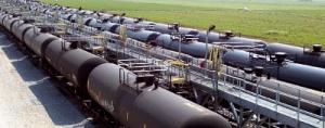 Railroaded crude oil loading photo 2
