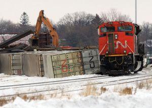 Railroaded CN derailment feb 9 2013 photo
