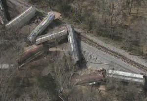 Railroaded CN derailment jackson feb 22 2013 photo