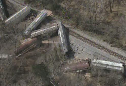 Railroaded CN derailment jackson feb 22 2013 photo