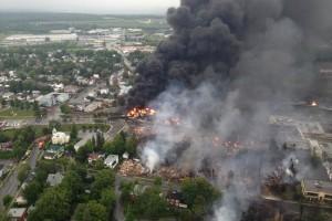 Railroaded petroleum fire derailment image july 6 2013