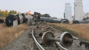 Railroaded CN derailment image sask sept 25 2013
