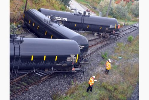 Railroaded CN derailment photo brampton oct 7 2013
