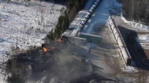Railroaded CN derailment plaster rock jan 7 2014