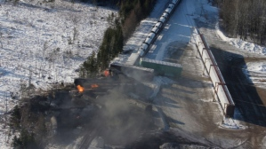 Railroaded CN derailment plaster rock jan 7 2014