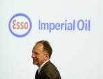 Railroaded Imperial Oil logo in photo
