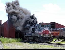 Railroaded diesel exhaust photo