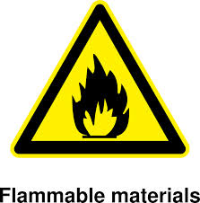 Railroaded flammable materials sign image
