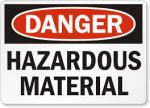 Railroaded hazardous materials sign image