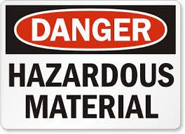 Railroaded hazardous materials sign image