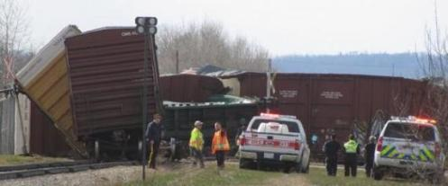 Railroaded CN derailment slave lake 2014 photo 2