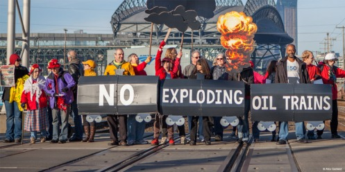 Railroaded stop oil by rail image