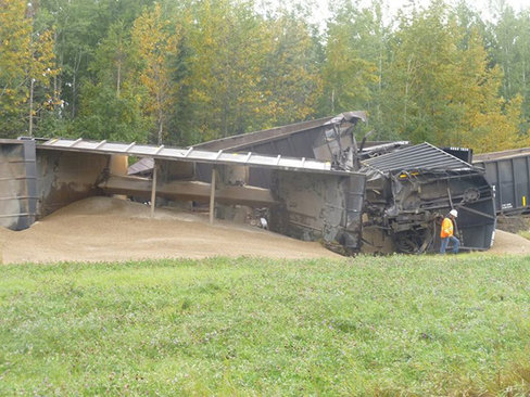 Railroaded CN derailment cherhill photo sept 9 2014