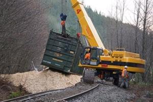 Railroaded CN derailment image squamish dec 21 2014