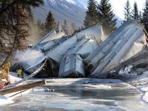 Railroaded CP derailment image Banff NP dec 26 2014