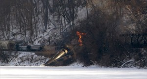 Railroaded CP derailment image feb 4 2015 Iowa