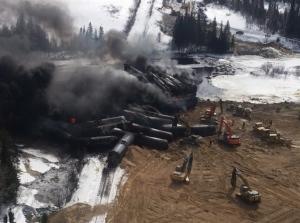 Railroaded CN derailment gogama image 3