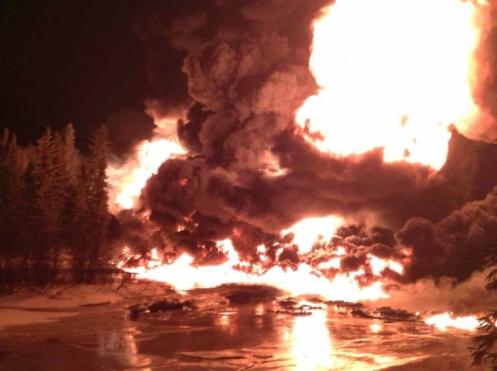 Railroaded CN derailment Gogama image march 2015