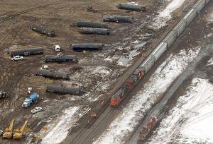 Railroaded CN derailment NE of Brandon image 2015